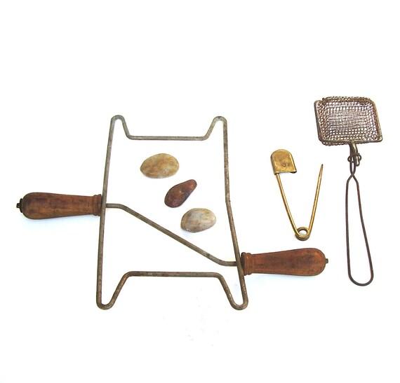 Vintage Laundry Tools Set 3 Rustic Farmhouse Primitives