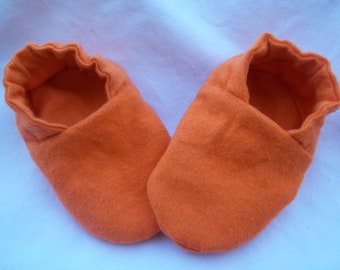 Baby Booties Orange for a Boy or Girl