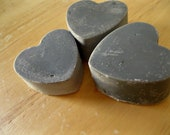 Black Heart Witches Brew VEGAN Activated Charcoal Soap Tea Tree Clary Sage - Set of 3 Gift Box