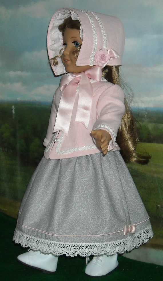 1850s Dress, Jacket & Hat for 18 inch Dolls
