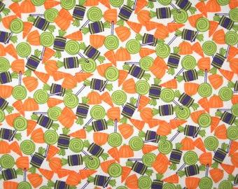 "Chic or Treat Moda Halloween Treats and Pumpkins fabric 39"" X 42"""