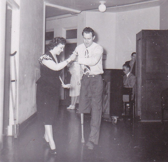 The one legged tango amputee learning to dance 1940s vintage