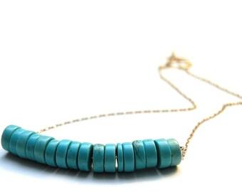 SOLAR PLEXUS CHAKRA - Turquoise Medallion Necklace (Third Chakra - Diabetes, depression, digestive issues, liver problems)
