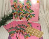 "Reserved LUCY Vintage Current ""Just a Note"" Christmas stationery   Current Inc 1970s self mailer new old stock postalette"