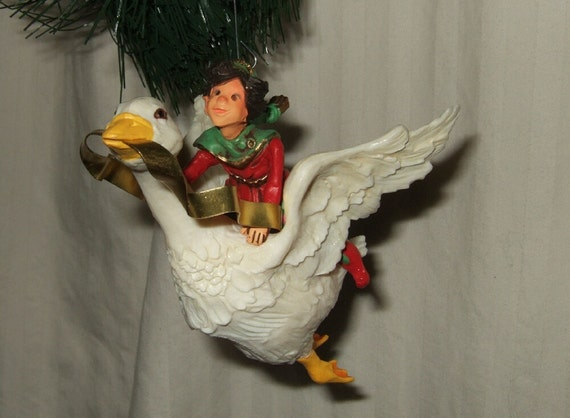 "Vintage Christmas Ornament Hallmark ""Christmas Fantasy"" 1981 Christmas Fantacy mother goose ornament Hallmark Christmas ornament"