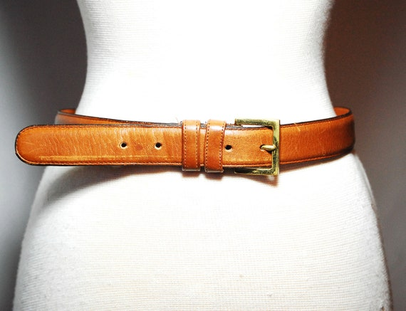 Vintage Coach Brown Leather High Waisted Belt Womens S/M
