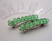 Birthstone Crystal Barrettes - August - Set of 2 - faceted crystal on french barrettes for girls, teens, and women by reynared