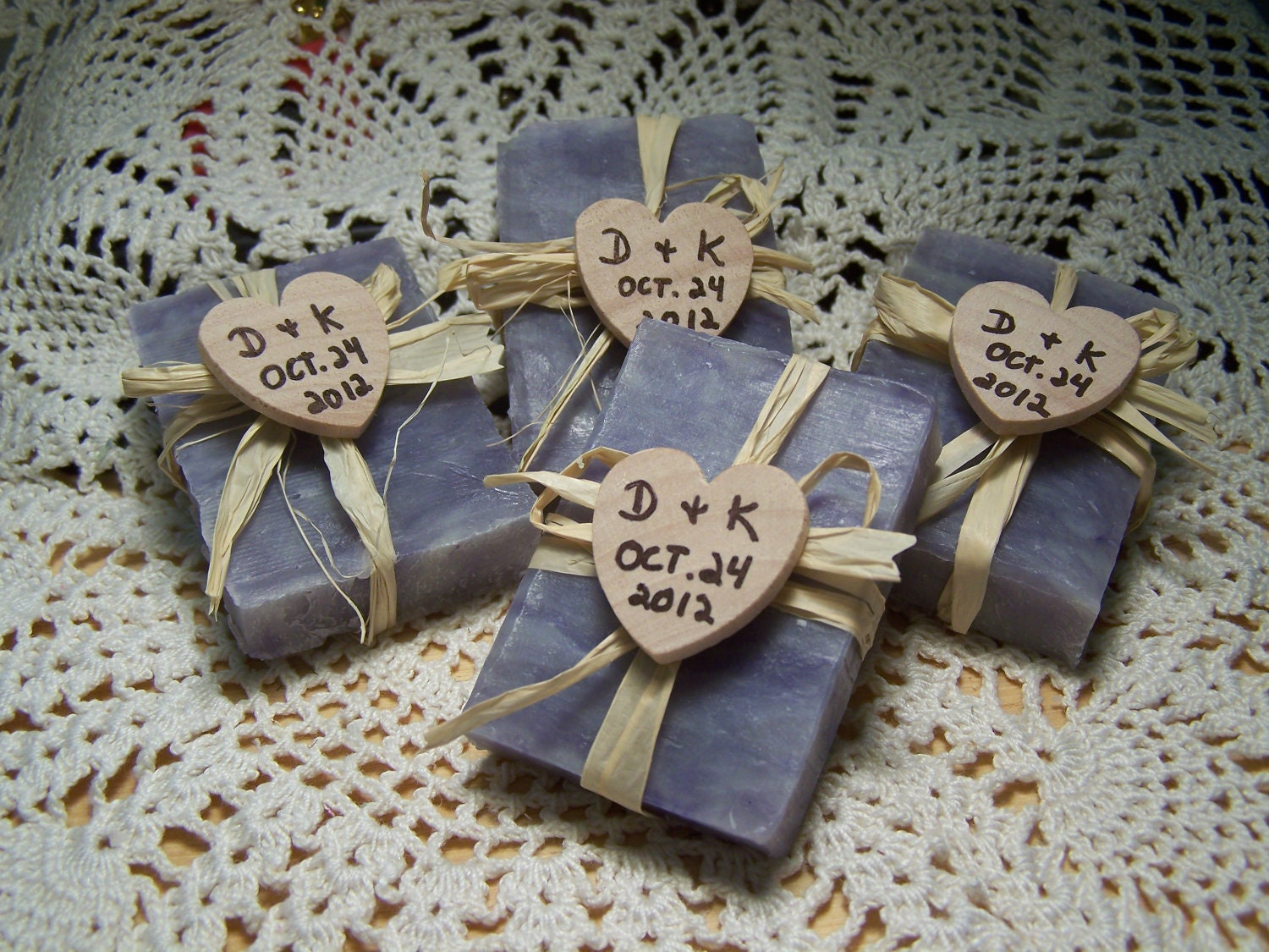 25 bridal shower favors soaps mini soaps lavender shea - Homemade soap with lavender the perfect gift ...