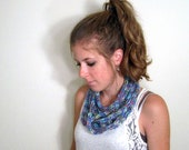 Scarf Knit Chunky Necklace Purple - The Towson Cowl