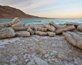 """DEAD SEA  - The lowest place on earth - Printed on Canvas  11"""" / 16""""."""