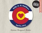 Custom Wedding Stickers or Address Labels - Colorado Love
