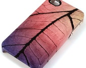iPhone 4 Case - Yellow, Pink and Purple Leaf