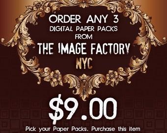 Special Offer. Order any 3 Digital Paper Packs.