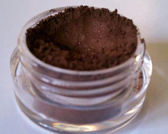 Swiss Mocha Custom Handmade Mineral Eyeshadow. Medium Shimmer. Use Wet or Dry. Vegan, Gluten Free, Chemical Free, Full 5 gm jar.