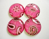Glass Marble Magnets or Push Pins - Rhinestone Cowgirl