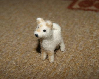 Felted dog, custom felted dog, dog miniature