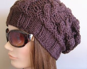 PDF Knitting Pattern - Knit Slouchy Hat / Lyra