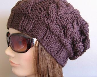 PDF Knitting Pattern - Knit Slouchy Hat / Lyra
