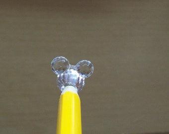 6 acrylic animal beads 15mm ... clear