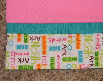 Pink Noah's Ark Standard Pillowcase