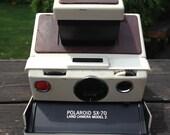 Polaroid SX-70 Land Camera: Model 2 w/ Vintage Leather Case