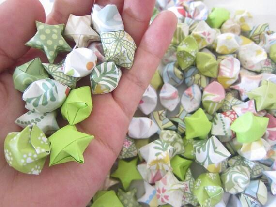250 OOAK Green Summer Slumber Origami Stars