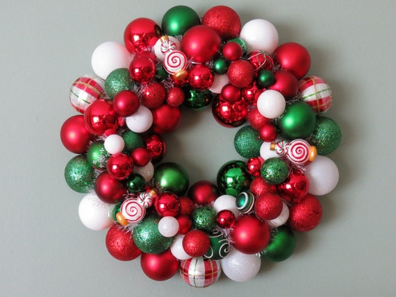 SPEARMINT PEPPERMINT 2 CHRISTMAS Ornament Wreath