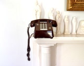Telephone Vintage Phone Chocolate Brown Classic Telephone