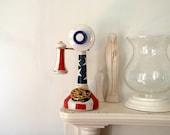 Antique Bottle Atomic Americana Pottery Yankee Doodle Telephone