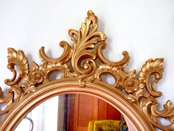 Large Mirror Hollywood Regency Wall Mirror Gold Framed Mirror