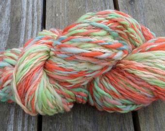Handspun yarn, Handpainted, Fruit Bowl, 138 yards, 4 wpi, Bulky