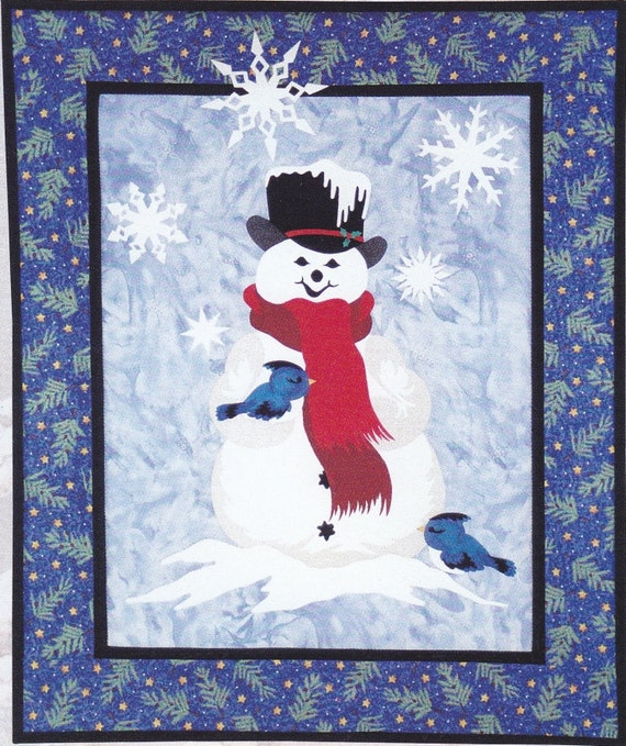 Snowman Theme Quilt Pattern by Sunset Silhouette