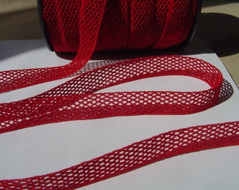 5 Yards=4.57 Meters of Red elastic trim to altered your fashion headband and lingerie designs - Ruban Resille - bra straps - bra making