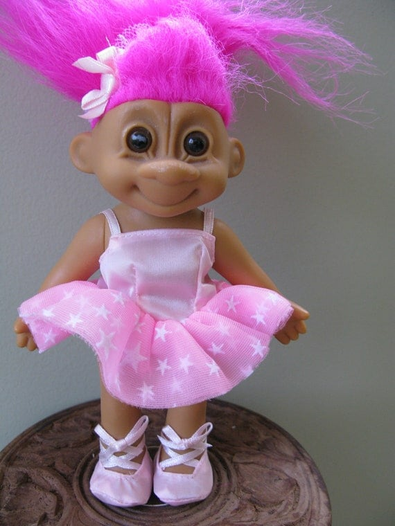 Ballerina TROLL by Russ, vintage collectible reserved for Dana
