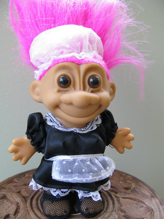 FRENCH MAID Troll collectible doll by Russ