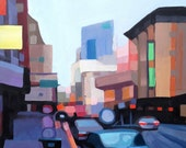 Original SF Cityscape Paintings - 16x20""