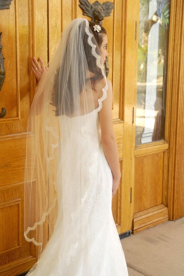 how to make angel cut veil