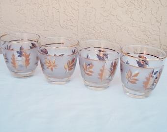 Vintage LIBBEY Set of 4 Beverage Tumblers Glasses.