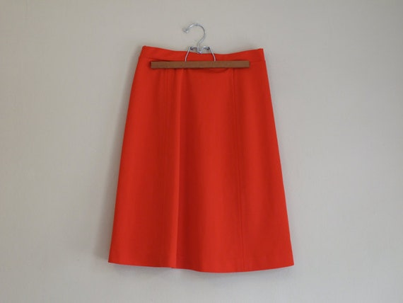 SALE - Bright Red Skirt - Hot Rouge - Super Snug A-Line Retro skirt
