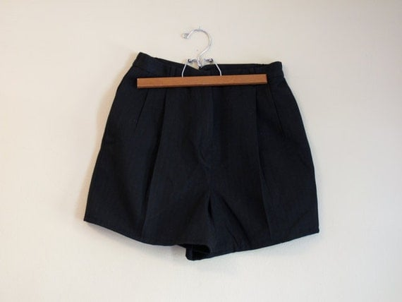 Black TREND - Dress Shorts - High Waist - Pleated Front