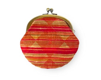 Brocade Red Stripes Coin Purse
