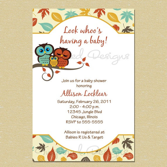 Fall Themed Baby Shower Invitations for amazing invitations template