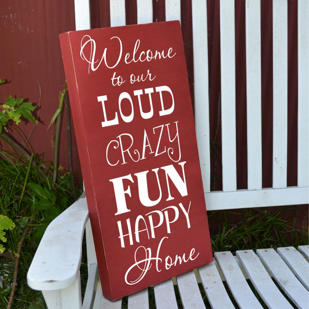 Welcome To Our Home: Welcome To Our Home Sign Painted Wood Sign By GrabersGraphics