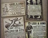 Strange Ailments and Fake Limbs - Victorian Ads Sticker Set