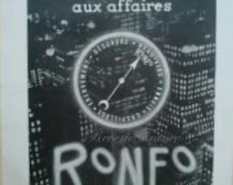 Original Vintage French Ad  Roneo Machines 1954