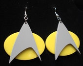 Star Trek Next Generation Communicator Pin Inspired Earrings