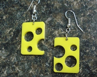 Holey Cheese Earrings  ON SALE cause they're so cool