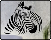 ZEBRA Wall Decal / Zebra Sticker / Zebra Wall mural / Zebra Wall Art / Zebra Room Decor / Black and White Wall Art / Zebra Vinyl  Wall Decor