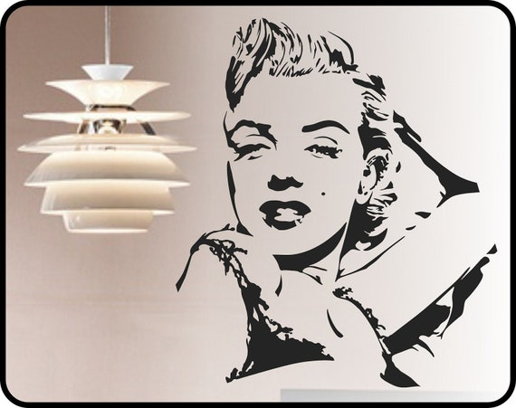 MARILYN MONROE Wall Decal Modern Vinyl Sticker Poster Mural Part 63