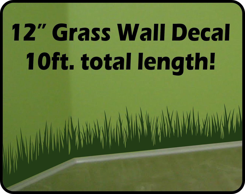 Grass wall decal
